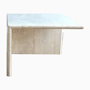 Tavolini in travertino, Italia, anni '70, set di 2