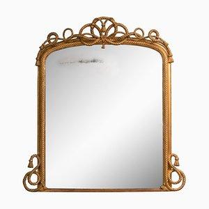 Antiker Spiegel mit maritimem Rahmen in Seil-Optik