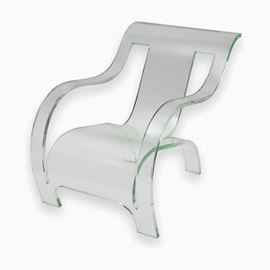 Plexiglass Lounge Chair, 1980s