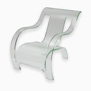 Sessel aus Plexiglas, 1980er