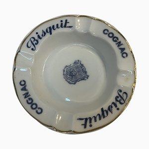 Cognacfarbener Bisquit Aschenbecher, 1950er