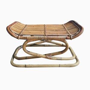 Italienischer Mid-Century Hocker aus Bambus, 1960er