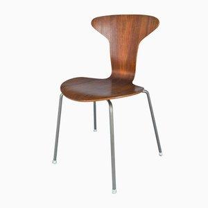 Mid-Century 3105 Beistellstuhl von Arne Jacobsen für Fritz Hansen