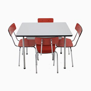 Dining Table & Chairs Set, 1960s