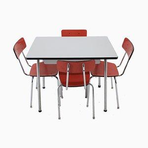 Esstisch & Stühle Set, 1960er