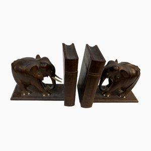 Buchstützen in Elefanten-Optik , 1950er, 2er Set
