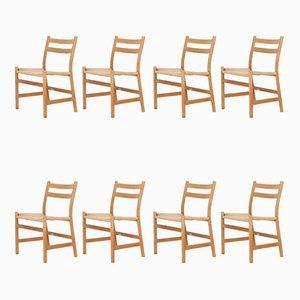 Chaises de Salle à Manger CH47 par Hans J. Wegner pour Carl Hansen & Søn, 1970s, Set de 8