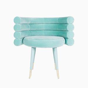 Sedia da pranzo Marshmallow blu di Royal Stranger