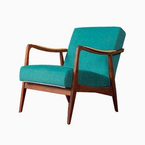 Sessel mit Gestell aus Buchen- & Eschenholz, 1950er