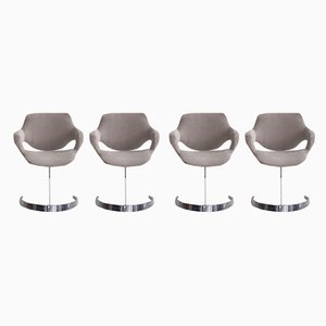 Dining Chairs by Boris Tabacoff for Mobilier Modulaire Moderne, 1960s, Set of 4