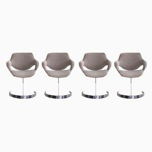 Esszimmerstühle von Boris Tabacoff für Mobilier Modulaire Moderne, 1960er, 4er Set