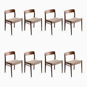 75 Dining Chairs by Niels O. Møller for JL Møllers Møbelfabrik, 1960s, Set of 8