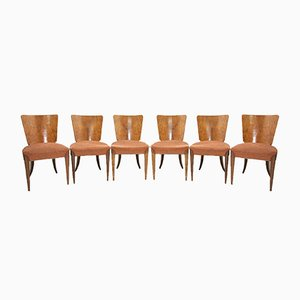 Model H-214 Dining Chairs by Jindřich Halabala for UP Závody, 1950s, Set of 6