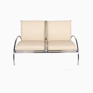 Vintage Cream Leather 2-Seater Sofa from Cor