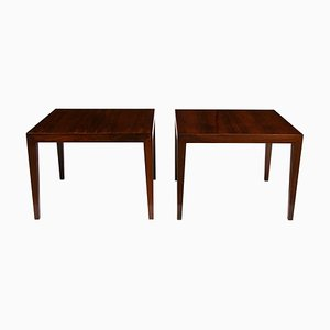 Rosewood Coffee Tables by Severin Hansen for Haslev Møbelsnedkeri, 1950s, Set of 2