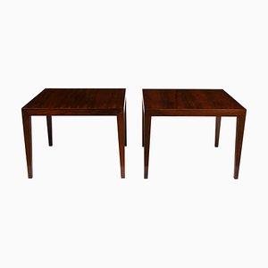 Tables Basses en Palissandre par Severin Hansen pour Haslev Møbelsnedkeri, 1950s, Set de 2