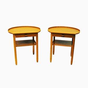 Tables d'Appoint Rondes par Sven Engström & Gunnar Myrstrand pour Bodafors, Suède, 1964, Set de 2