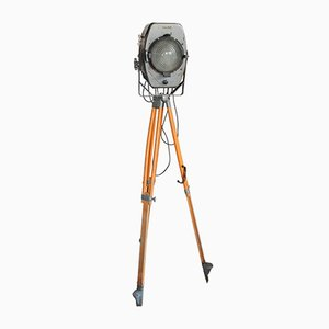 German Industrial Theatre Tripod Floor Lamp, 1950s