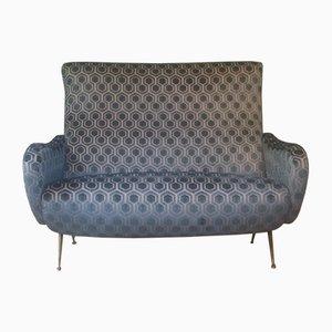 Velvet Sofa, 1950s
