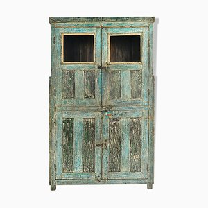 Patinated Wooden Cabinet, 1920s