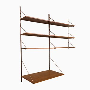 Danish Teak & Copper Wall Unit, 1960s