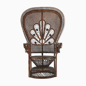 Wicker Armchair, 1940s
