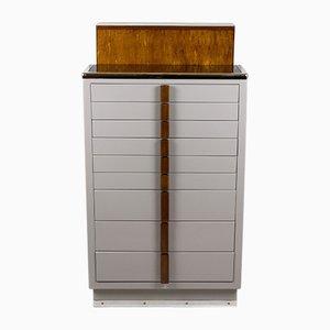 Mueble médico industrial de acero y madera de Kovona, años 50