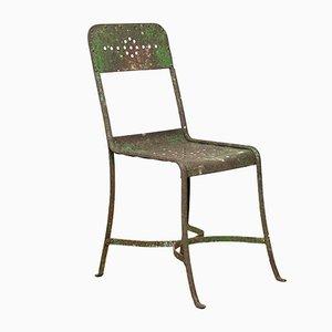 Industrieller Beistellstuhl aus Metall, 1920er