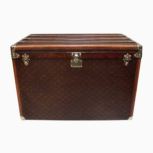 Large Antique French Trunk from Aux Etats Unis