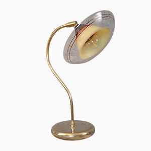 Lampe de Bureau en Laiton et Acrylique, 1967