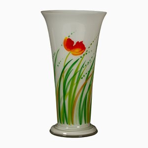 Danish Glass Vase by Ole Kortzau for Holmegaard, 1978