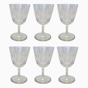 Wassergläser aus Kristallglas von Baccarat, 1970er, 6er Set