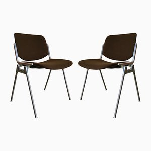 Desk Chairs by Giancarlo Piretti for Castelli / Anonima Castelli, 1960s, Set of 2