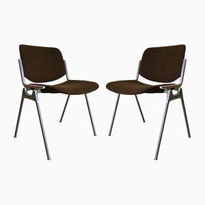 Schreibtischstühle von Giancarlo Piretti für Castelli / Anonima Castelli, 1960er, 2er Set
