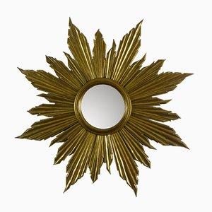 Espejo en forma de sol dorado, años 50