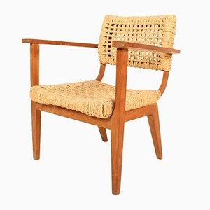 Französischer Modell Bridge Sessel von Adrien Audoux & Frida Minet für Vibo, 1950er