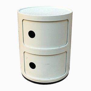 Italian White Plastic Modular Cabinet by Anna Castelli Ferrieri for Kartell, 1970s
