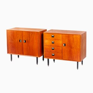 Mid-Century Danish Teak Cabinets, 1960s, Set of 2