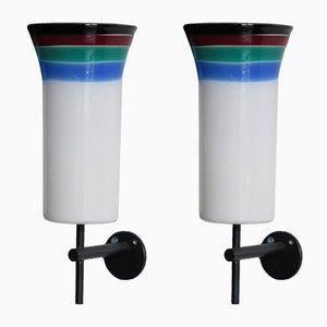Applique di Massimo Vignelli per Venini Murano, anni '60, set di 2