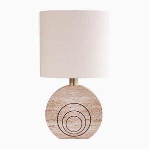 Lámpara de mesa de travertino de Fratelli Mannelli, años 70