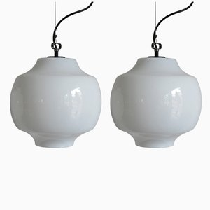 Ceiling Lamps by Massimo Vignelli for Venini, 1960s, Set of 2