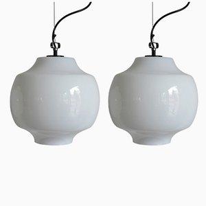 Lámparas de techo de Massimo Vignelli para Venini, años 60. Juego de 2