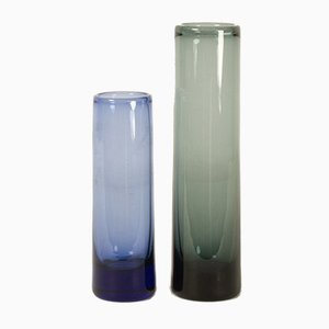 Vintage Danish Glass Vases by Per Lütken for Holmegaard, 1958, Set of 2