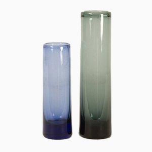 Vintage Danish Glass Vases by Per Lütken for Holmegaard, 1958, Set of 2