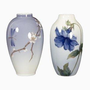 Jarrones de porcelana de Royal Copenhagen, 1961. Juego de 2
