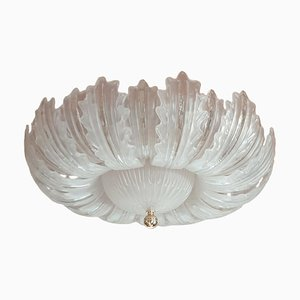 Large Mid-Century Italian Murano Glass Ceiling Lamp, 1980s