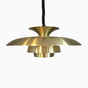 Brass & Aluminium Pendant Lamp, 1960s