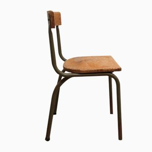 Mid-Century School Chair from Tubax