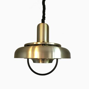 Brass & Aluminium Pendant Lamp, 1970s