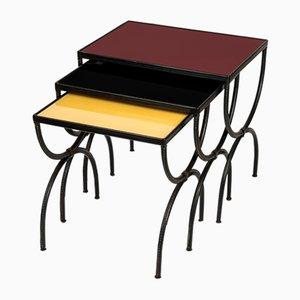 Tables Gigognes par Jacques Adnet, 1950s